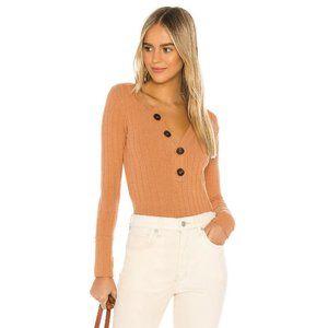Free People Oliver Henley Top Clay Sweater Tee